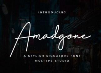 Amadgone Handwritten Font