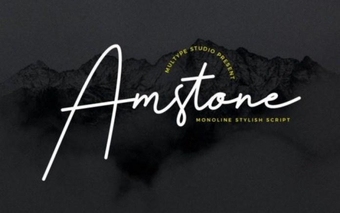 Amstone Handwritten Font