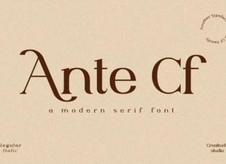 Ante Cf Serif Font