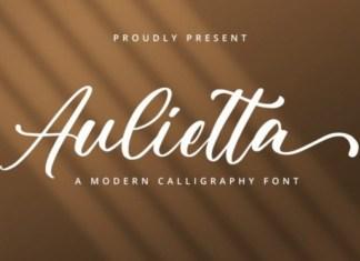 Aulietta Calligraphy Font