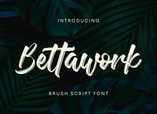 Bettawork Brush Font