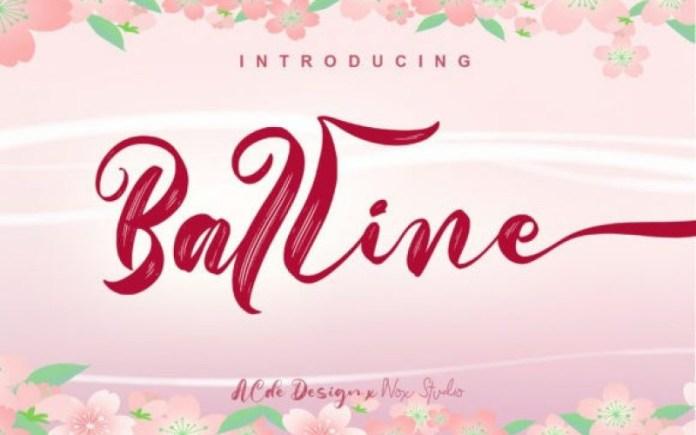 Balline Brush Font