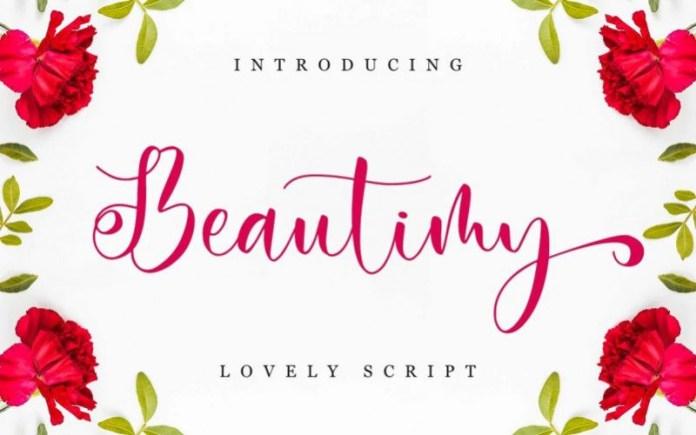 Beautimy Calligraphy Font