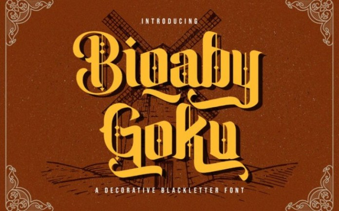 Biqabygoku Blackletter Font