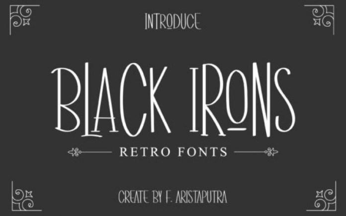 Black Irons Display Font