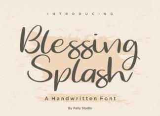 Blessing Splash Script Font