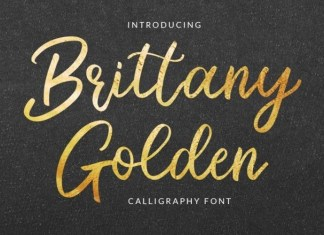 Brittany Golden Calligraphy Font