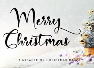 Merry Christmas Script Font