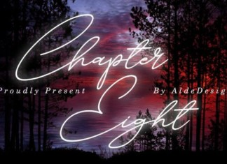 Chapter Eight Handwritten Font