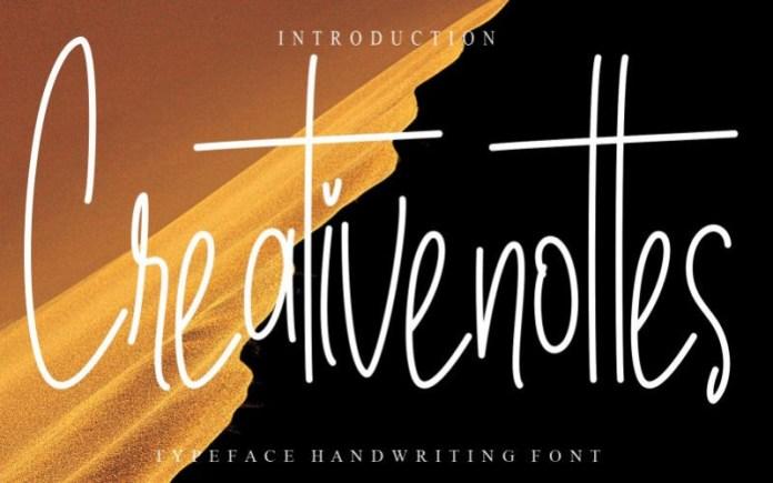 Creativenottes Font
