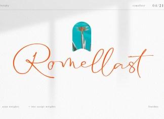 Romellast Handwritten Font