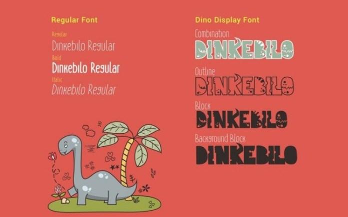 Dinkebilo Display Font