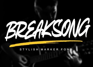BREAKSONG Brush Font