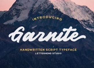 Garnite Script Font