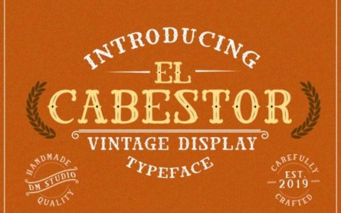 El Cabestor Display Font