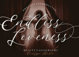Endless Loveness Calligraphy Font