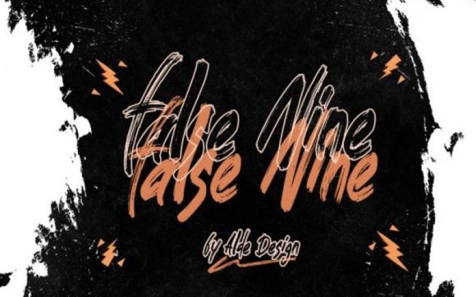 False Nine Brush Font
