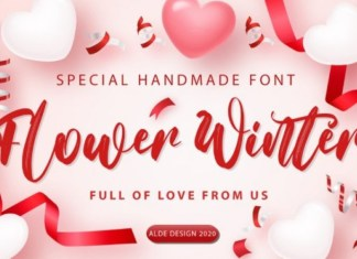Flower Winter Brush Font