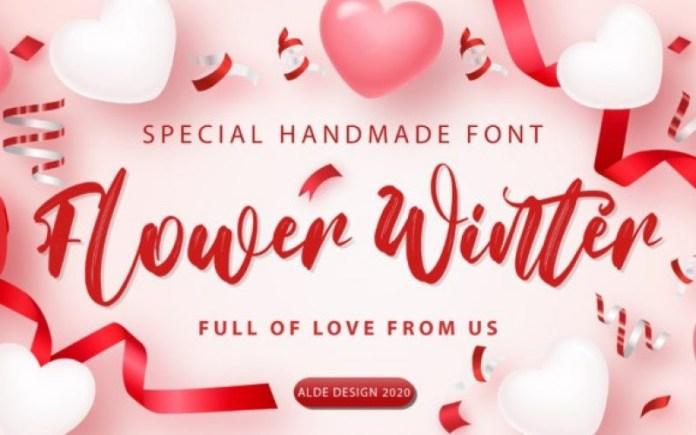 Flower Winter Brush Font