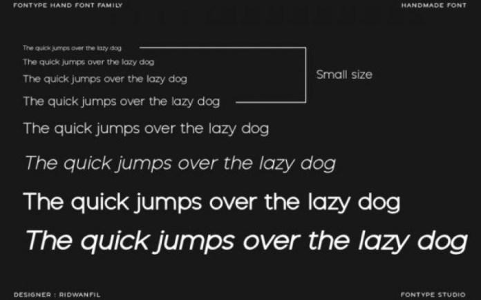 Fontype Hand Sans Serif Font