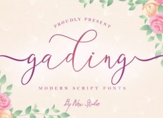 Gading Calligraphy Font