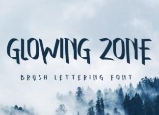 Glowing Zone Font