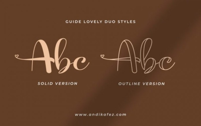 Guidelovely Calligraphy Font