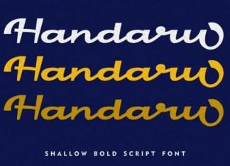 Handaru Script Font