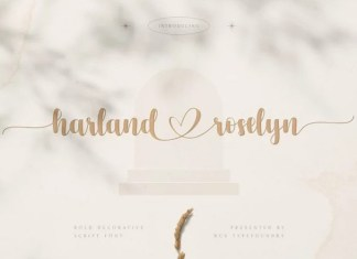 Harland Roselyn Calligraphy Font