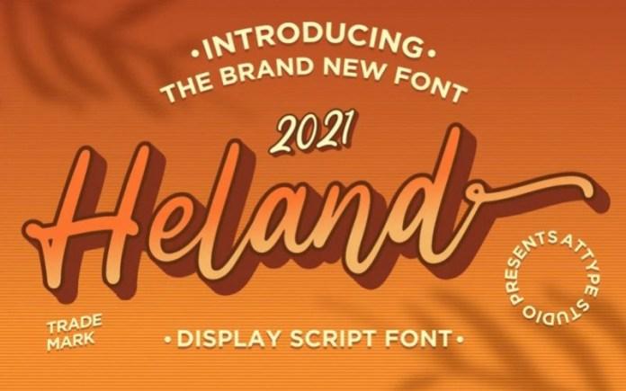 Heland Script Font