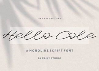 Hello Cole Handwritten Font