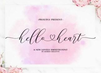 Hello Heart Calligraphy Font