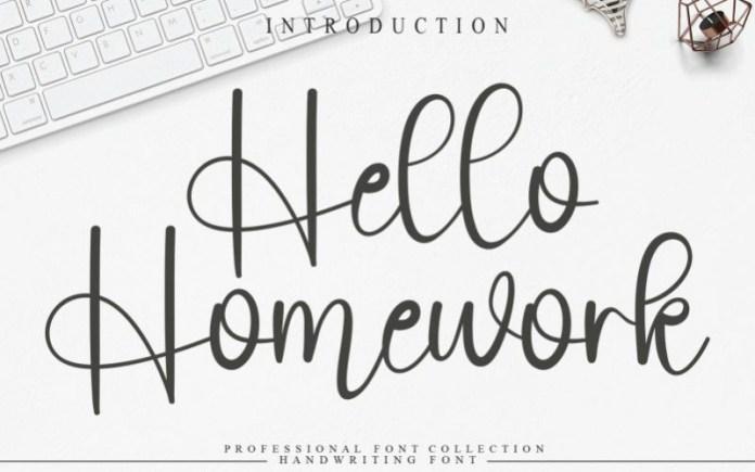 Hello Homework Font