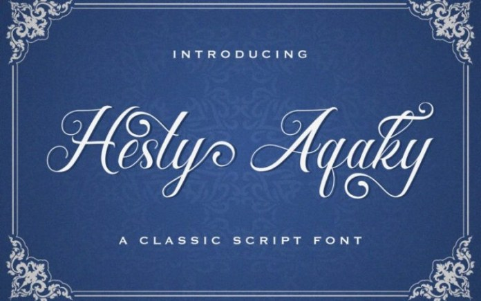 Hesty Aqaky Calligraphy Font