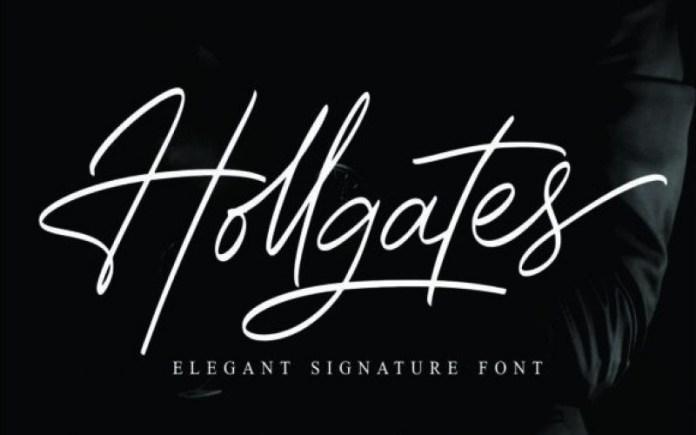 Hollgates Handwritten Font