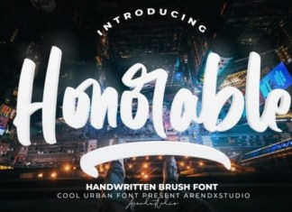 Honorable Brush Font