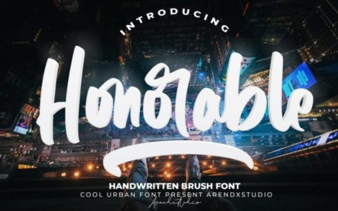 Honorable Brush Font