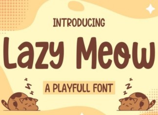 Lazy Meow Display Font