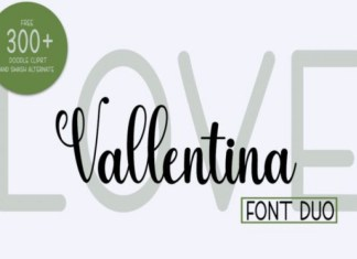 Love Vallentina Font Duo