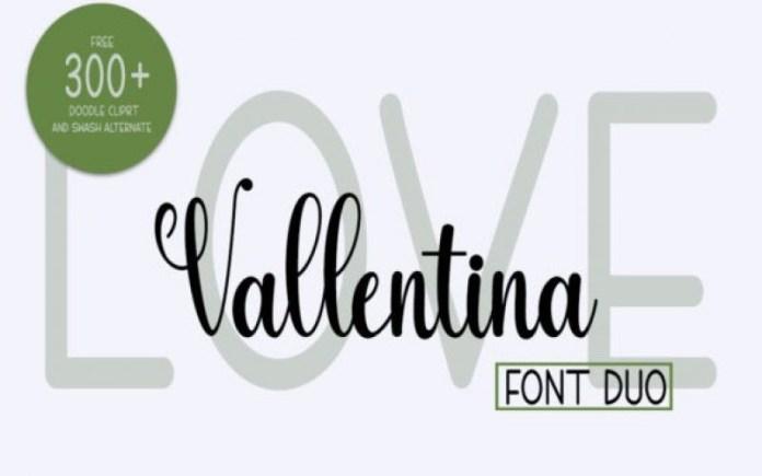 Love Vallentina Font Duo