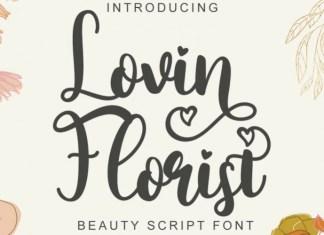 Lovin Florist Calligraphy Font