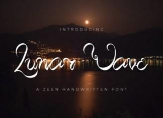Lunar Wave Script Font