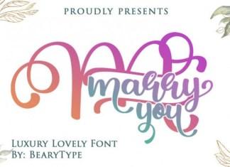 Marry You Script Font