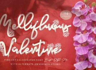 Mellifluous Valentine Script Font