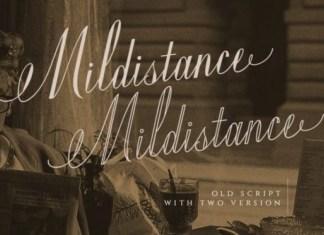 Mildistance Calligraphy Font
