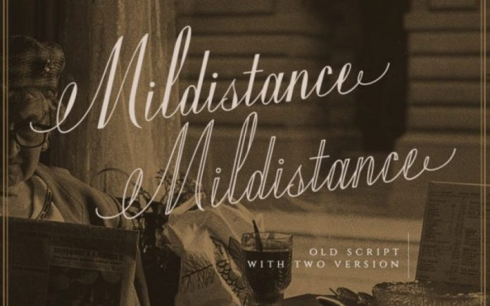 Mildistance Calligraphy Font