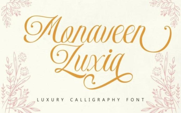 Monaveen Luxia Calligraphy Font