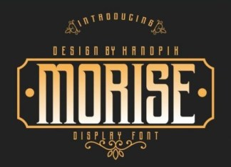 Morise Display Font