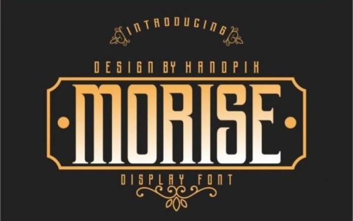Morise Display Font