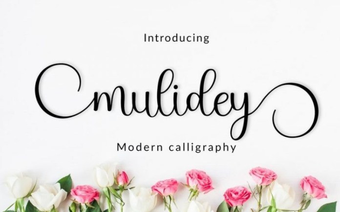 Mulidey Calligraphy Font